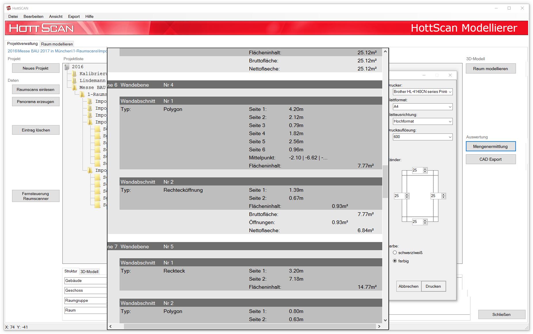 HottScan Modelling Software